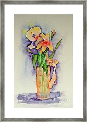 Irises Framed Print by Terri Mills