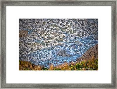 Irish Beach Ocean Movement Framed Print by Ron Schwager
