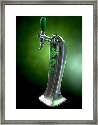 Irish Beer Tap Framed Print by Allan Swart