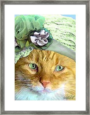 Irish Cat Framed Print by Michele  Avanti