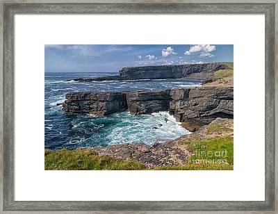 Irish Cliffs Framed Print by Juergen Klust