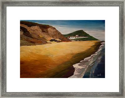 Irish Coast Near County Wexford Framed Print by M Bleichner