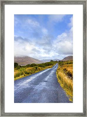 Irish Countryside Of Connemara Framed Print by Mark Tisdale