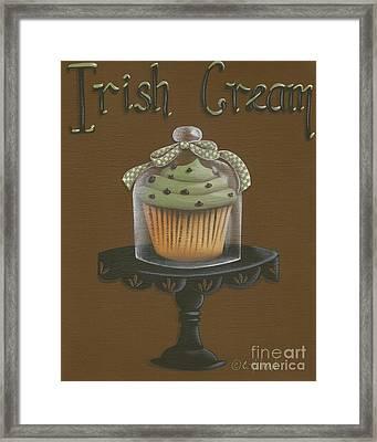 Irish Cream Cupcake Framed Print by Catherine Holman