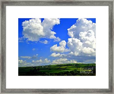 Irish Fields Framed Print by Nina Ficur Feenan