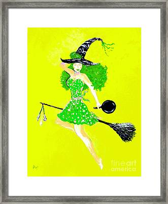 Irish Kitchen Witch Framed Print by Alys Caviness-Gober