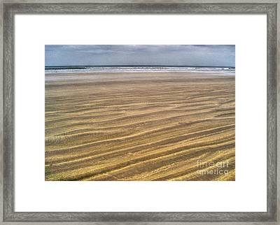 Irish Sand Beach Framed Print by Nina Ficur Feenan
