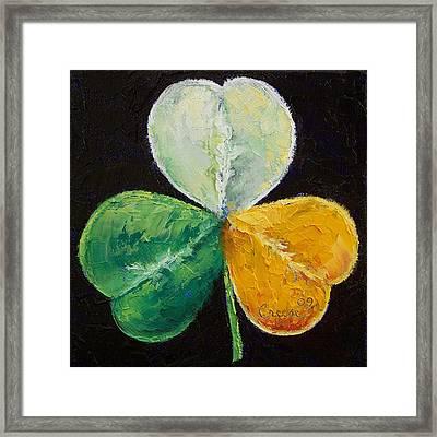 Irish Shamrock Framed Print by Michael Creese
