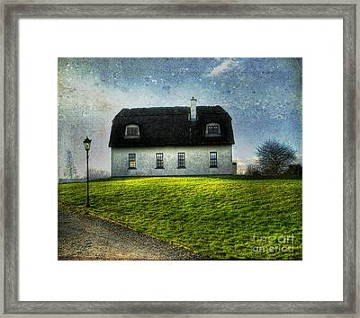 Irish Thatched Roofed Home Framed Print by Juli Scalzi