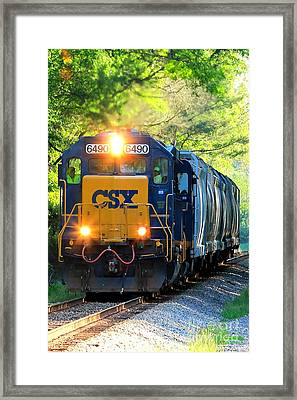 Iron Age Engineers On The Csx Framed Print by Reid Callaway