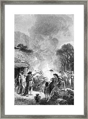 Iron Age, Funeral Ceremony Framed Print by British Library