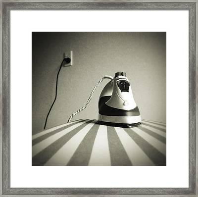 Iron Framed Print by Les Cunliffe