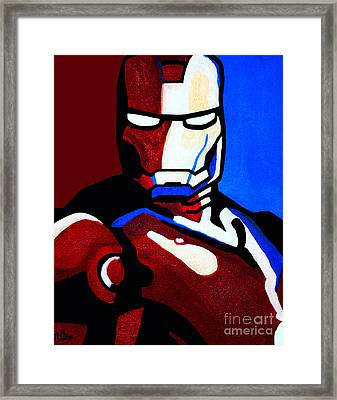 Iron Man 2 Framed Print by Barbara McMahon