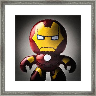Iron Man Framed Print by Bradley R Youngberg