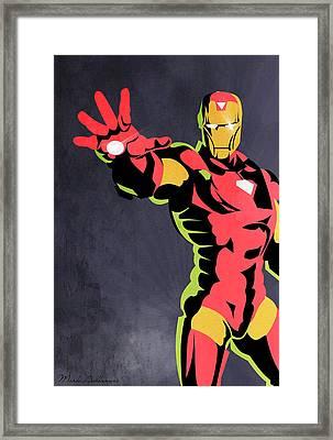 Iron Man  Framed Print by Mark Ashkenazi