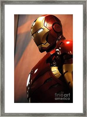 Iron Man Framed Print by Micah May