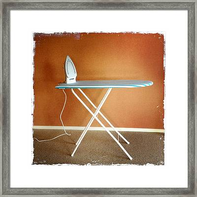 Iron On Board Framed Print by Les Cunliffe