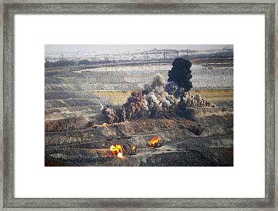 Iron Ore Mining Framed Print by Science Photo Library
