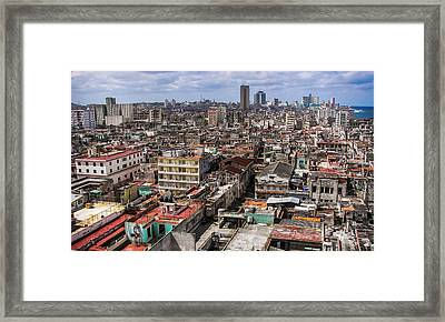 Irony Of Cuba Framed Print by Karen Wiles