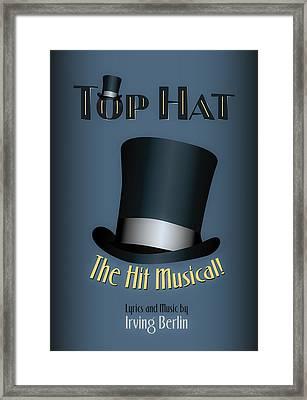 Irving Berlin Top Hat Musical Poster Framed Print by Hakon Soreide