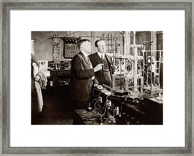 Irving Langmuir And Guglielmo Marconi Framed Print by Library Of Congress