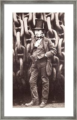 Isambard Kingdom Brunel  Framed Print by Robert Howlett