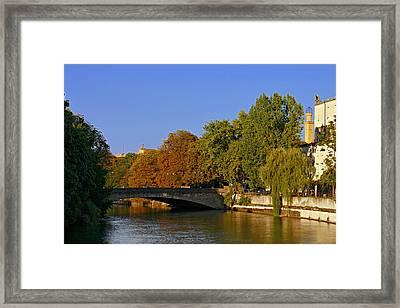 Isar River - Munich - Bavaria Framed Print by Christine Till