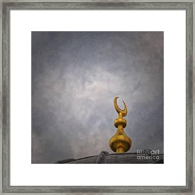 Islam Moon Painting Framed Print by Antony McAulay