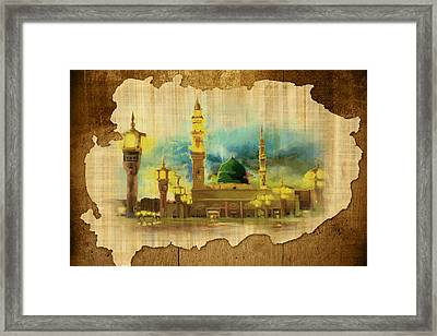 Islamic Calligraphy 035 Framed Print by Catf