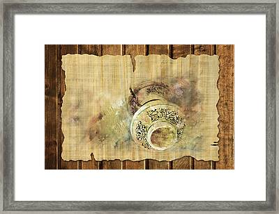 Islamic Calligraphy 037 Framed Print by Catf