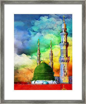 Islamic Painting 009 Framed Print by Catf