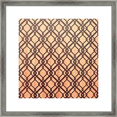 Islamic Pattern Framed Print by Tom Gowanlock