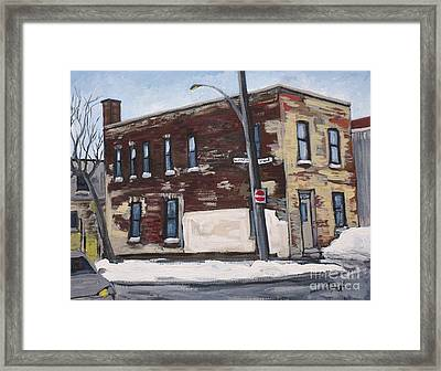 Island And St. Patrick Pointe St Charles Framed Print by Reb Frost