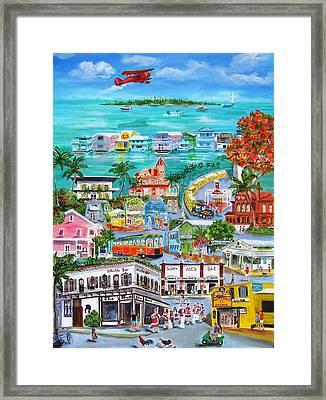 Island Daze Framed Print by Linda Cabrera