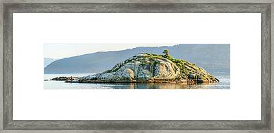 Island In A Lake, Glacier Bay National Framed Print by Panoramic Images