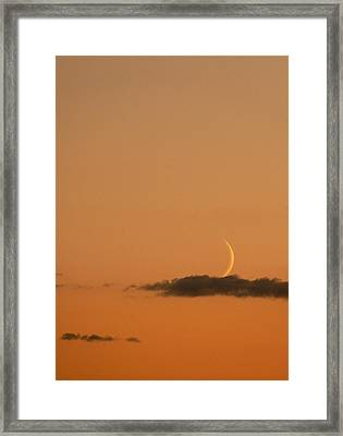 Island In A Sea Of Sky Framed Print by Natalie LaRocque