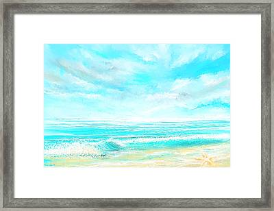 Island Memories - Seascapes Abstract Art Framed Print by Lourry Legarde