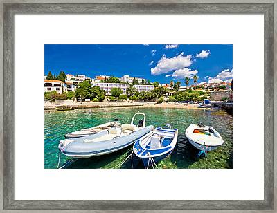 Island Of Hvar Turquoise Beach Framed Print by Dalibor Brlek