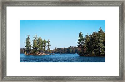 Island On The Fulton Chain Of Lakes Framed Print by David Patterson