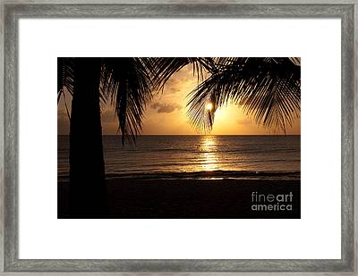 Island Sunset Framed Print by Charles Dobbs