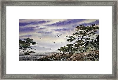 Island Sunset Framed Print by James Williamson