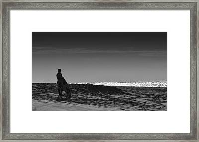 Island Surfer  Framed Print by Tin Lung Chao