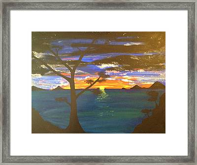 Island View Framed Print by Scott Wilmot