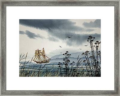Island Voyager Framed Print by James Williamson