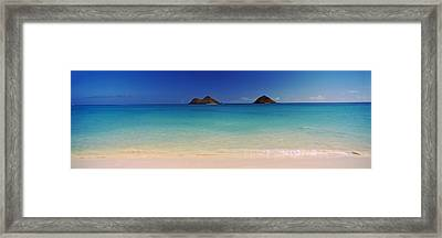 Islands In The Pacific Ocean, Lanikai Framed Print by Panoramic Images