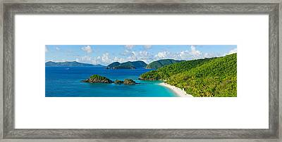 Islands In The Sea, Trunk Bay, St Framed Print by Panoramic Images