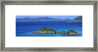 Islands In The Sea, Trunk Bay, Virgin Framed Print by Panoramic Images