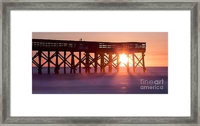 Isle Of Palms Pier Sunrise South Carolina Framed Print by Dustin K Ryan