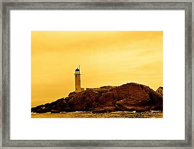 Isles Of Shoals Framed Print by Mark Prescott Crannell