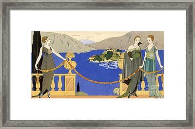 Isola Bella Framed Print by Georges Barbier